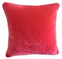 LARGE SIZE SOFT FEEL VELVET PLUSH STYLISH DESIGNER CUSHION COVER FUSHIA PINK COLOUR